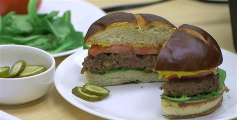 plant blood veggie burger
